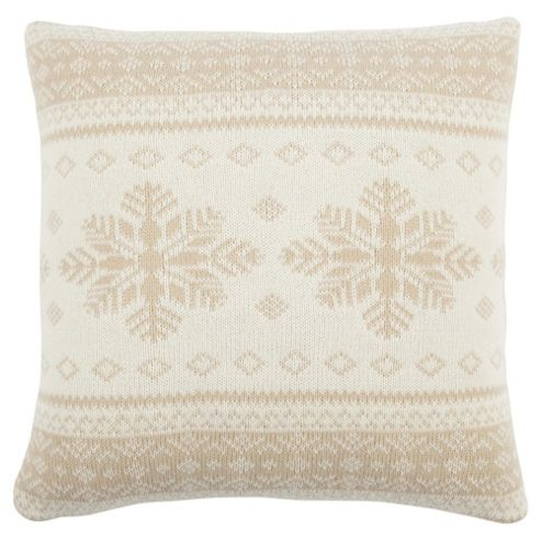 Scandi Snowflake Cushion Cream