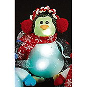 Battery Operated 26cm Penguin with Multi-Colour LEDs
