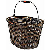 Rixen & Kaul Structura Oval Front Basket: Brown.