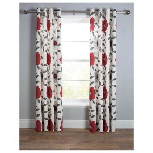 Tesco Sophia Eyelet Lined Curtain W163xL137cm (64x54