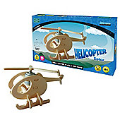 Solar Helicopter Wooden Craft Kit