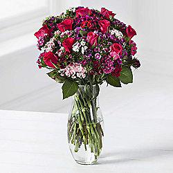 Rose & Sweet William Posy