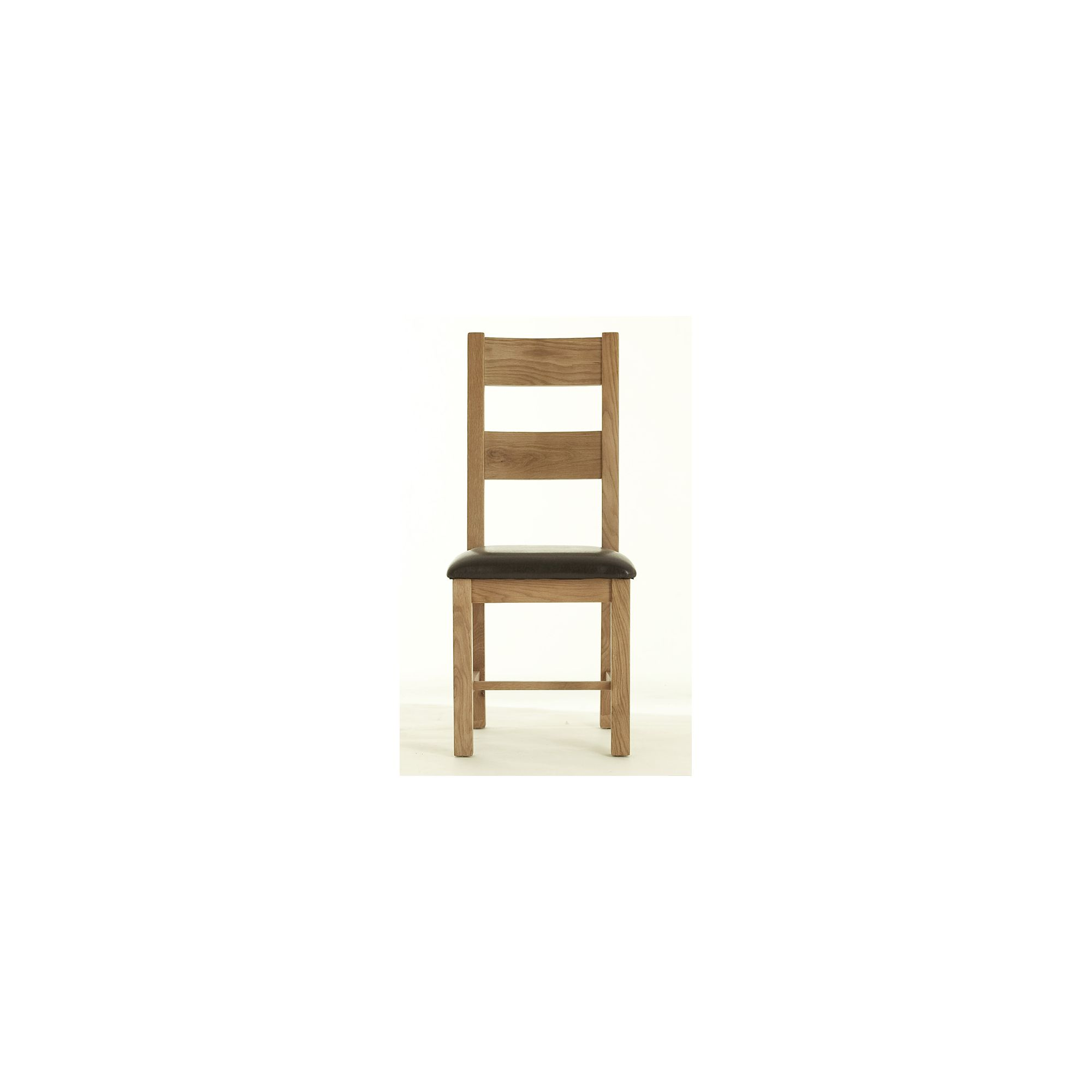 Thorndon Block Dining Chair with Padded Seat in Natural Matured Oak