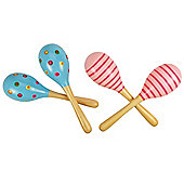 Bigjigs Toys BJ195 Snazzy Maracas (One Pair - Designs Vary)