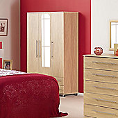Ideal Furniture Bobby Triple Plain Wardrobe - Oak