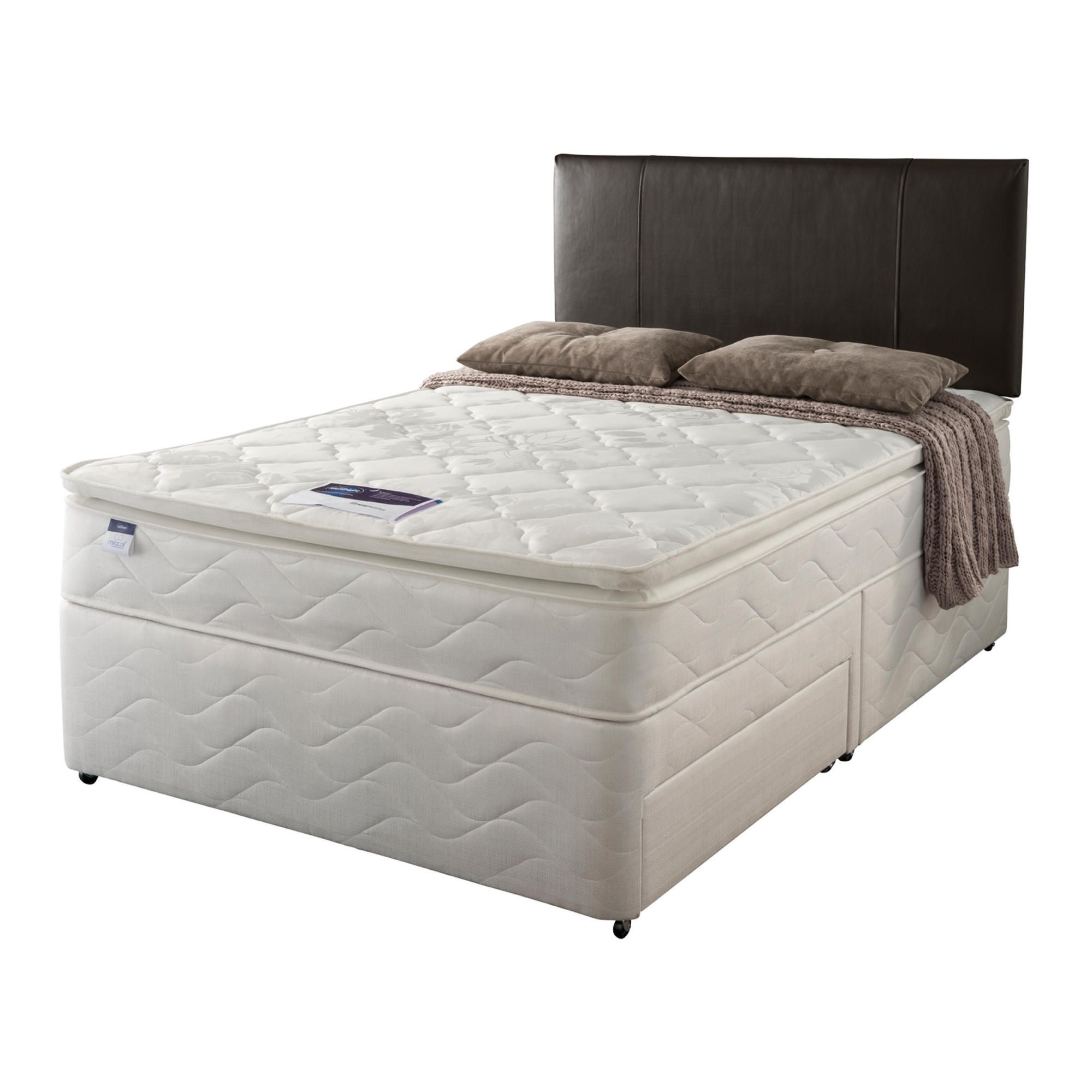 Silentnight Miracoil Pillowtop Fiji Single Non Storage Divan set at Tesco Direct
