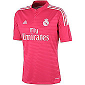 2014-15 Real Madrid Adidas Away Football Shirt - Pink