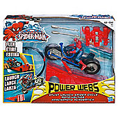 Spiderman Power Webs Stunt Launch Spider Cycle