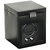 Wolf Designs Watch Winder with Cover and Watch Storage - Single