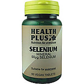 Health Plus Selenium 50ug Vegan 60 Veg Tablets
