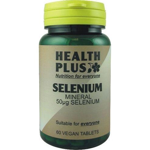 Health Plus Selenium 50ug Vegan 60 Veg Tablets
