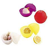 Mastrad Airtight Vegetable Saver Storage Pots