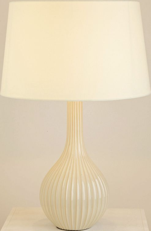 The Lighting & Interiors Group Scallion Table Lamp - Cream