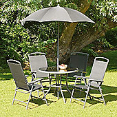 Black Havana 92cm 4 seat Garden and Patio Set