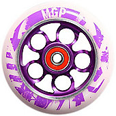 Madd Gear MGP Aero 110mm Scooter Wheel Including Bearings (Nitro Gr) - Purple/White