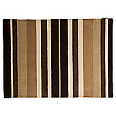 Wool Stripe Rug 100x150cm, Natural