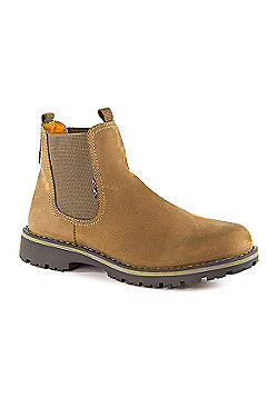 Pavers Chunky Chelsea Boot with Double Loop Tan - 10 - Tan
