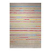 Esprit Joyful Stripes Taupe Woven Rug - 120 cm x 170 cm (3 ft 11 in x 5 ft 7 in)