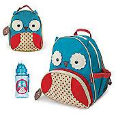 Skip Hop Zoo Backpack & Lunch Bag & Drinks Bottle - Owl