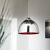 Endon Lighting One Light Pendant in Chromed Glass