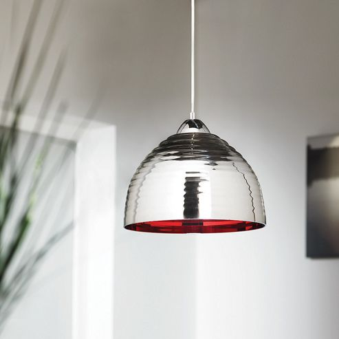 Endon Lighting One Light Pendant in Chromed Glass