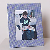 Blue Gingham Children's Photo Frame