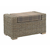 Desser Bath Footstool in Tartan Mocha