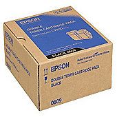 Epson 0609 High Capacity Toner Cartridges Yield 7500 Pages Black 2 Pack