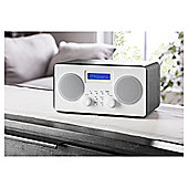 Tesco Wooden Stereo DAB & FM Radio Black