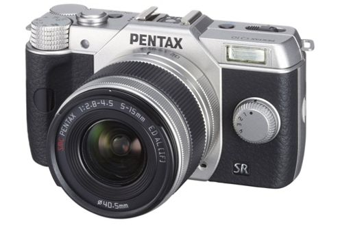 Pentax Q10 CSC Camera Silver 5-15mm Lens Kit 12.4MP 3.0LCD FHD