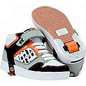 Heelys Stripes White/Black/Grey/Orange Heely Shoe - Orange