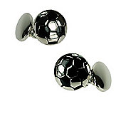 Silver Plated Chainlink Football Novelty Themed Cufflinks