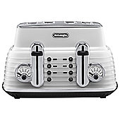 Delonghi Scultura 4 Slice Toaster - White