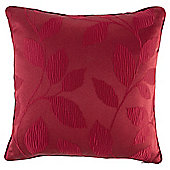 Classic Leaf Cushion 45x45 Red