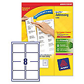 Avery Addressing Labels Laser Jam-free 8 per Sheet 99.1x67.7mm White Ref L7165-100 [100 Sheets]