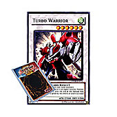 YuGiOh : DP08-EN015 1st Ed Turbo Warrior Rare Card - ( Yusei Duelist Pack Yu-...