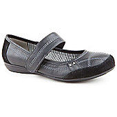 Emilio Luca X Ladies Walker Strap Black Leisure Shoes - Black