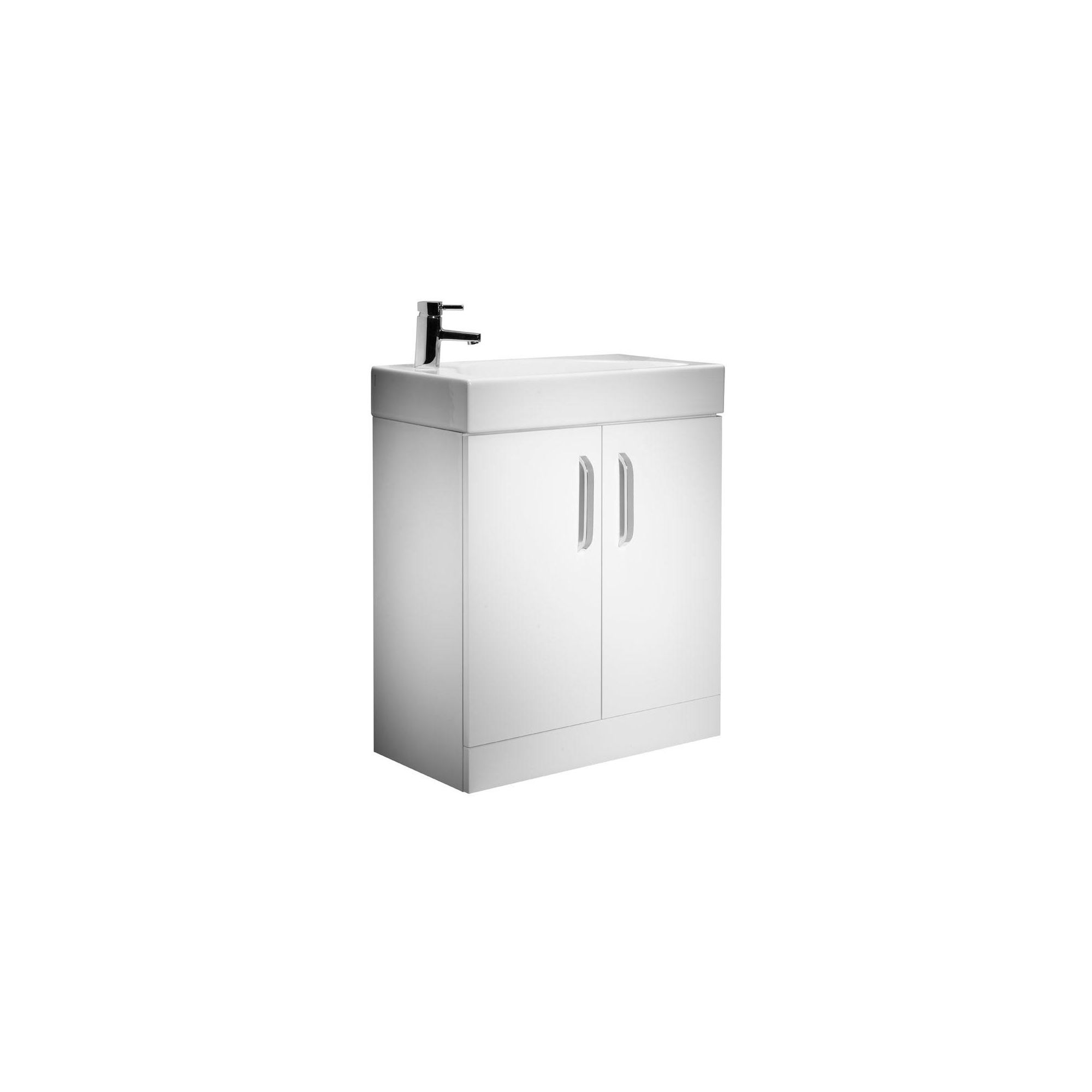 Tavistock Arc White Floor Standing Cabinet and Basin - 1 Tap Hole - 700mm Wide