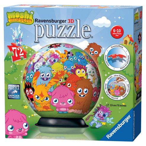 Moshi Monsters 3d Puzzle 72 Pieces