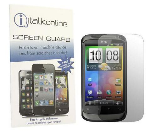 S-Protect LCD Screen Protector & Micro Fibre Cleaning Cloth - HTC Desire S