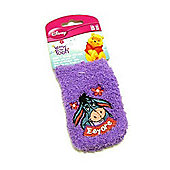 Winnie the Pooh Eeyore Softies Mobile Phone Sock purple
