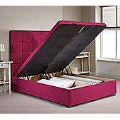 Appian Ottoman Divan Bed Frame - Pink Chenille Fabric - Double - 4ft 6