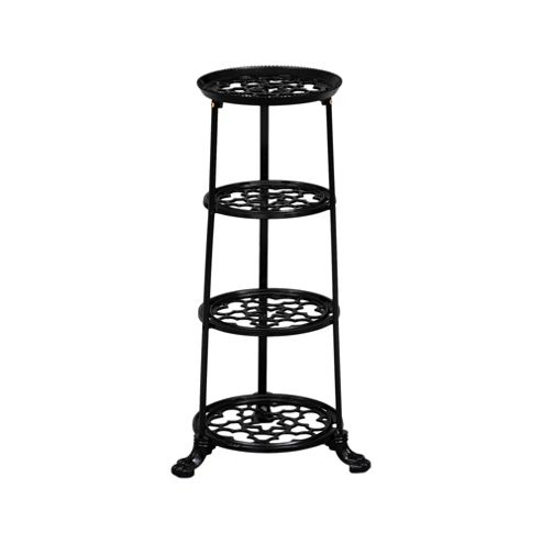 Cast Iron 4 tier Saucepan Stand - Black