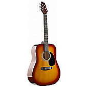 Stagg SW201 Dreadnought Acoustic Guitar - Cherryburst