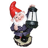 Dobbies Gnome & Lantern Solar Light