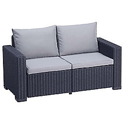Allibert California 2 Seater Sofa - Graphite Grey