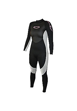 Ladies Full Suit 2.5mm Blk/Silv Size 14