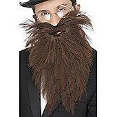 Long Brown Beard And Tash