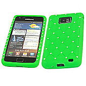 Silicone Case - Samsung i9100 Galaxy S II S2 (Green Diamond)