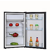 SIA LFSI01BL 49cm Free Standing Larder Fridge With Ice Box In Black A+ Rating